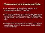 measurement of bronchial reactivity