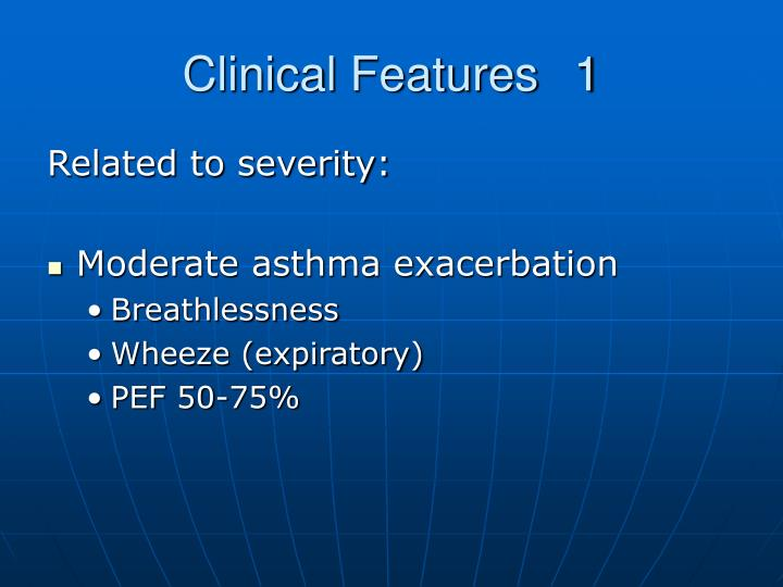 Clinical Features1