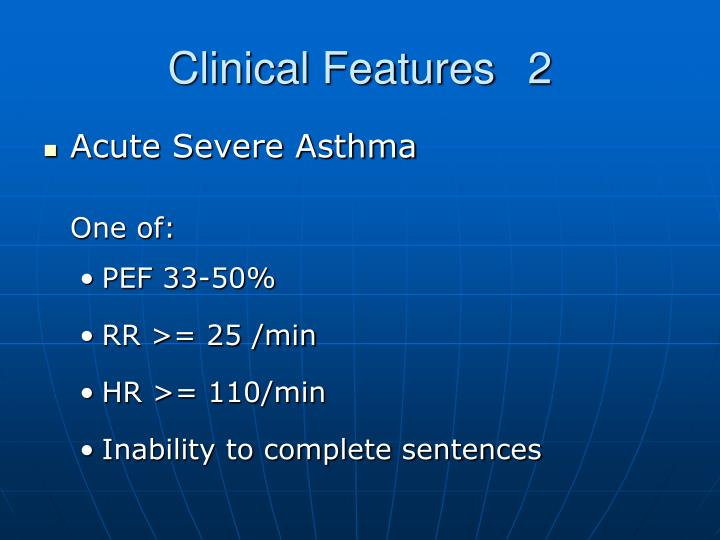 Clinical Features2