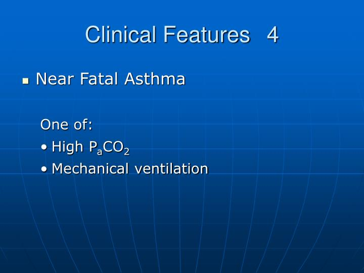 Clinical Features4