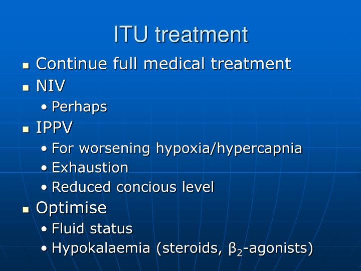 ITU treatment