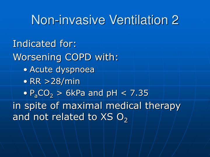 Non-invasive Ventilation 2