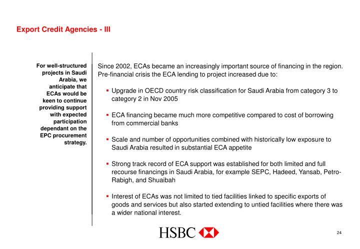 Export Credit Agencies - III