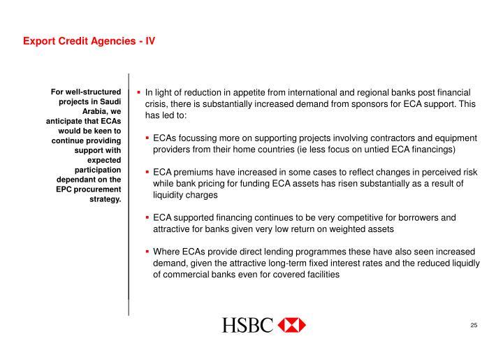 Export Credit Agencies - IV