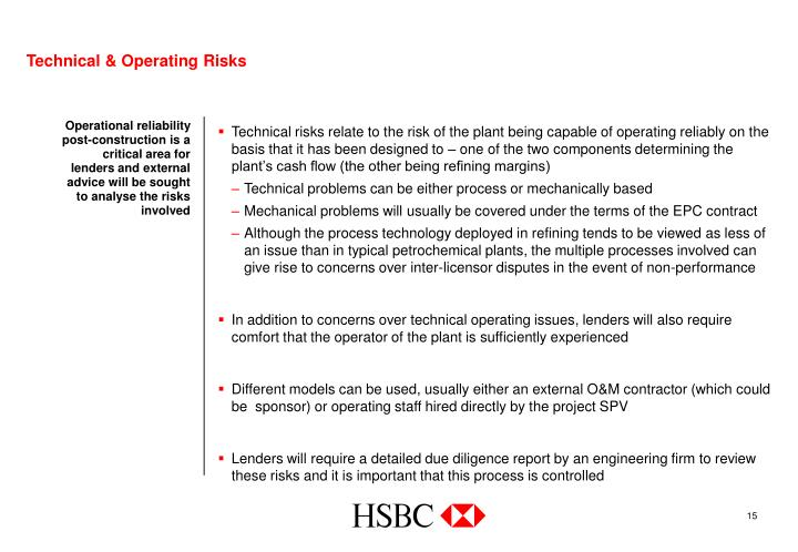 Technical & Operating Risks
