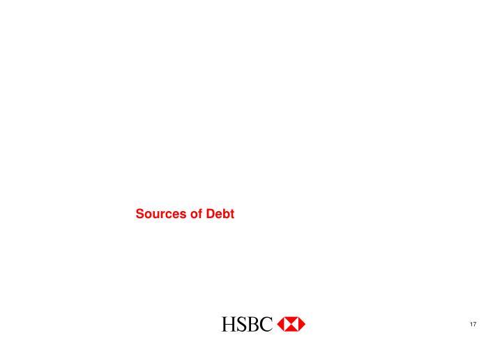 Sources of Debt