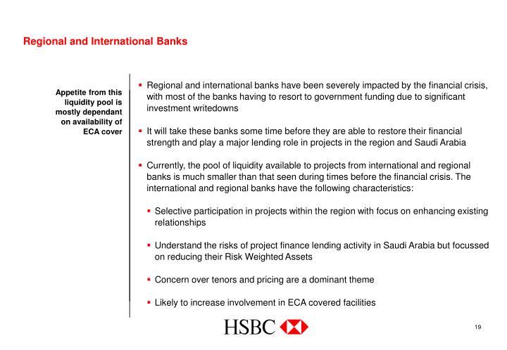 Regional and International Banks