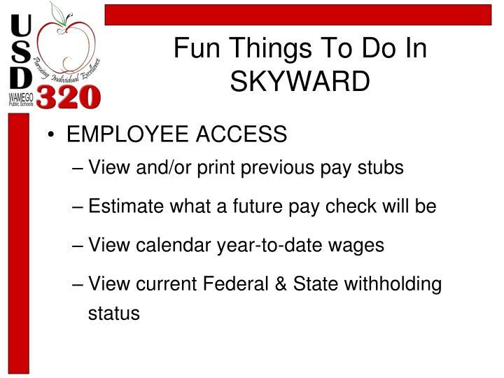 Fun Things To Do In SKYWARD