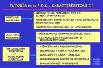 tutor a en el p d c caracter sticas 1