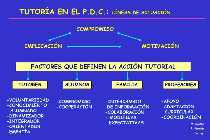 TUTORÍA EN EL P.D.C.: