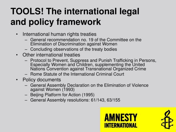 TOOLS! The international legal