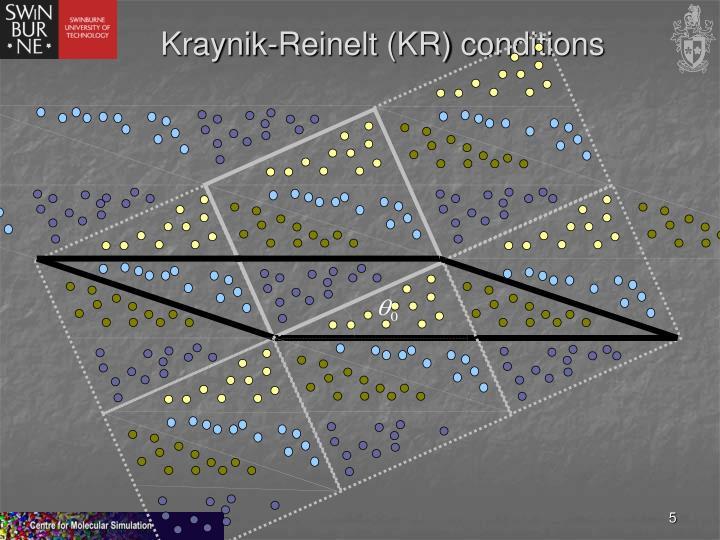 Kraynik-Reinelt (KR) conditions