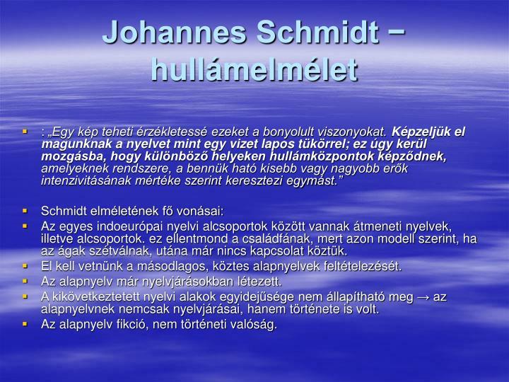 Johannes Schmidt − hullámelmélet