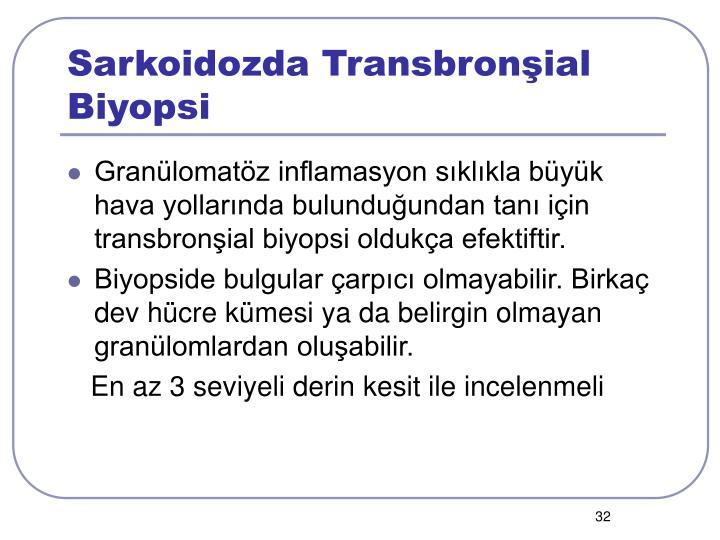Sarkoidozda Transbronşial Biyopsi