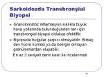 sarkoidozda transbron ial biyopsi