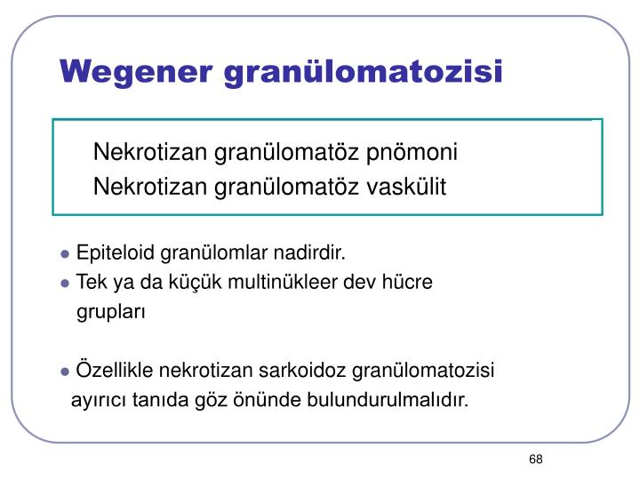Wegener granülomatozisi