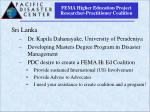 fema higher education project researcher practitioner coalition