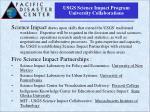 usgs science impact program university collaborations