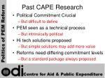past cape research