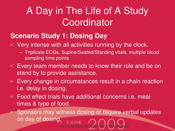 A Day in The Life of A Study Coordinator