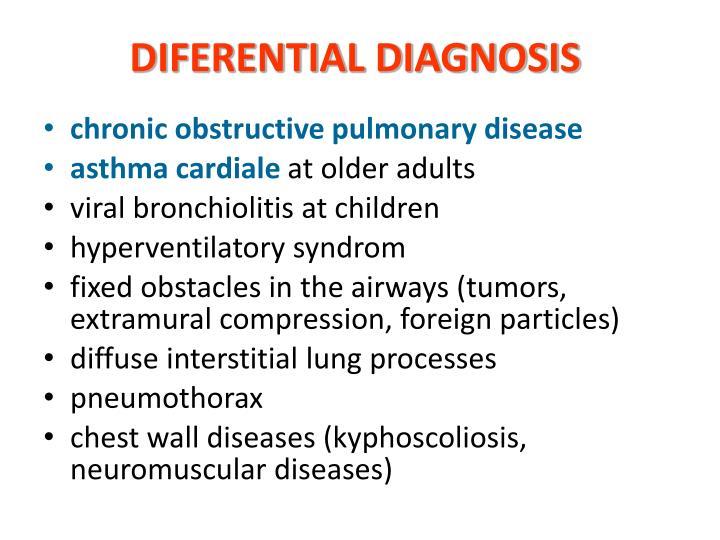 DIFERENTIAL DIAGNOSIS