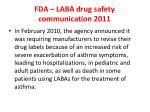 fda laba drug safety communication 2011