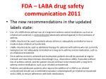 fda laba drug safety communication 20111