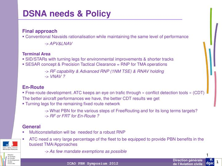 dsna needs policy