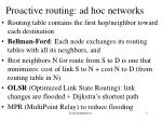 proactive routing ad hoc networks