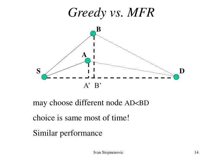 Greedy vs. MFR