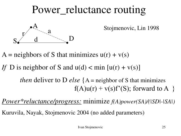 Power_reluctance routing