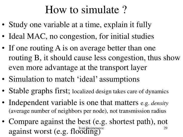 How to simulate ?