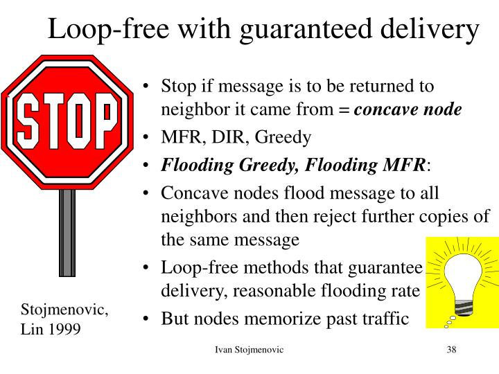 Loop-free with guaranteed delivery