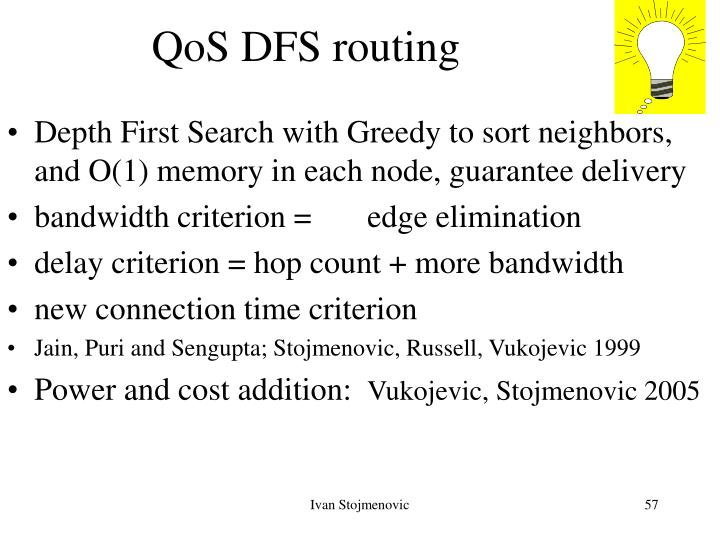 QoS DFS routing