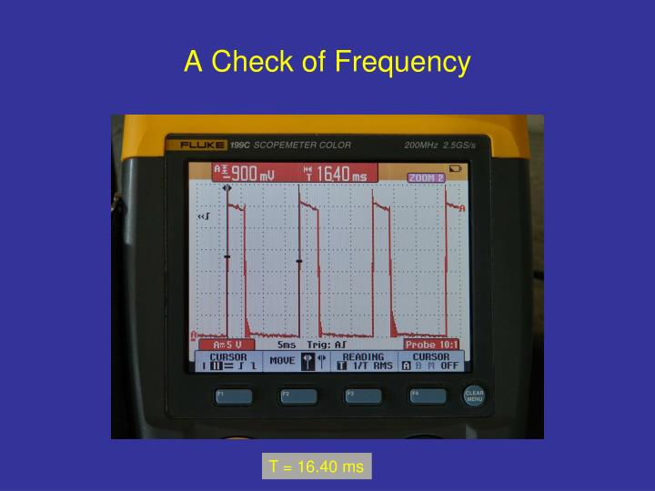A Check of Frequency