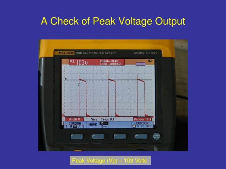 A Check of Peak Voltage Output