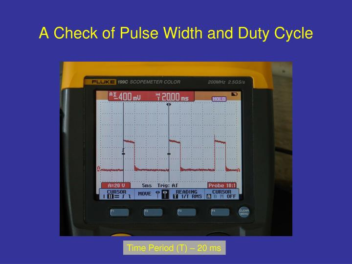 A Check of Pulse Width and Duty Cycle