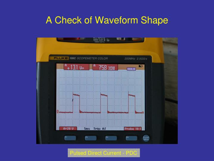 A Check of Waveform Shape