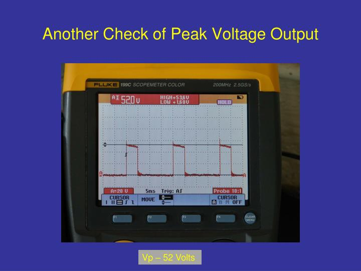 Another Check of Peak Voltage Output