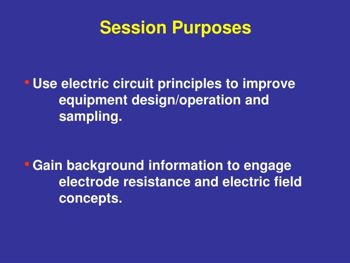 Session Purposes