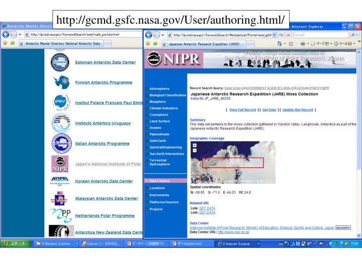 http://gcmd.gsfc.nasa.gov/User/authoring.html/