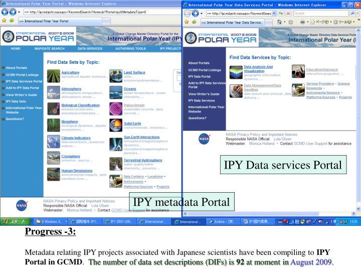 IPY Data services Portal