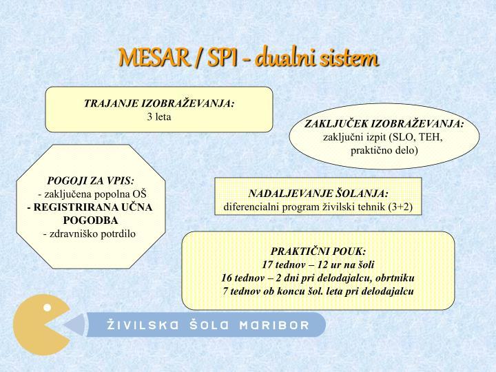 MESAR / SPI - dualni sistem