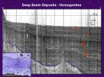 deep basin deposits homogenites