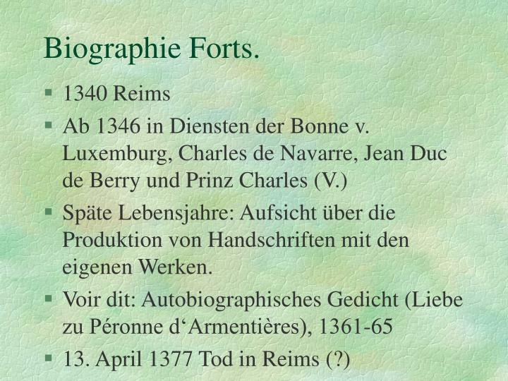 Biographie forts