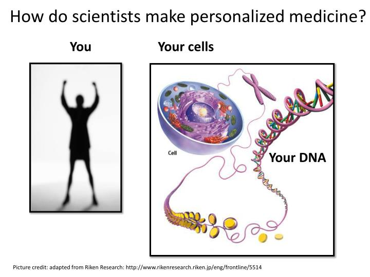How do scientists make personalized medicine?