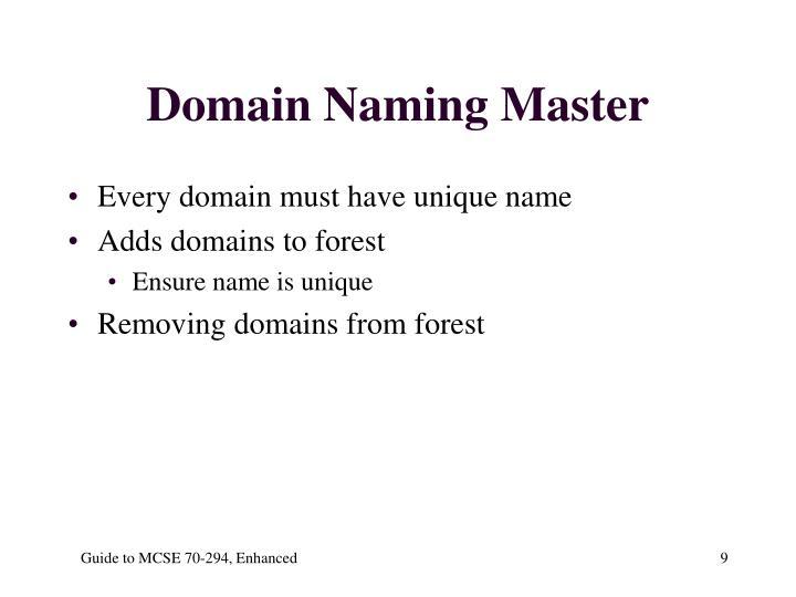 Domain Naming Master