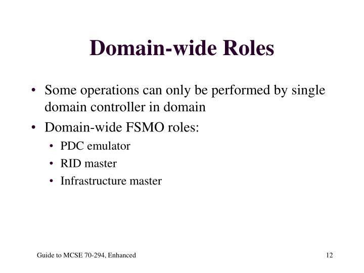 Domain-wide Roles