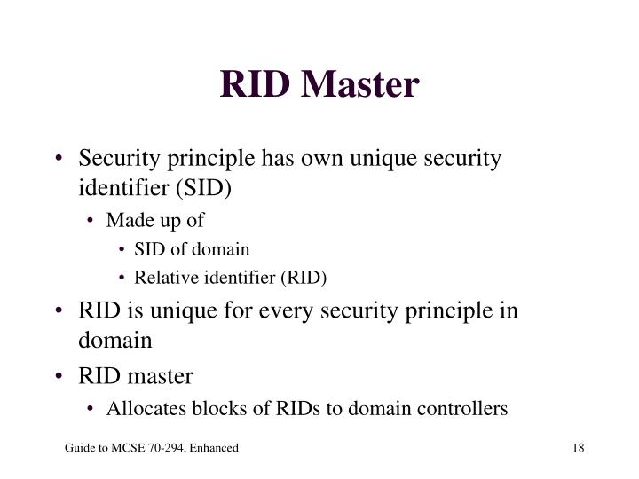 RID Master