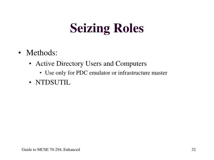 Seizing Roles